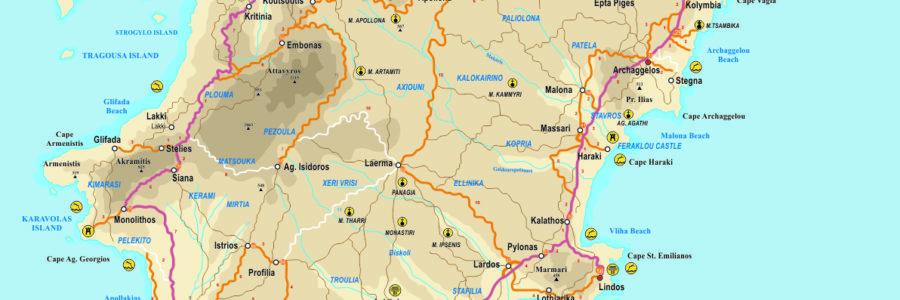 Rhodes en voiture – Itinéraires à Rhodes – Location de voiture