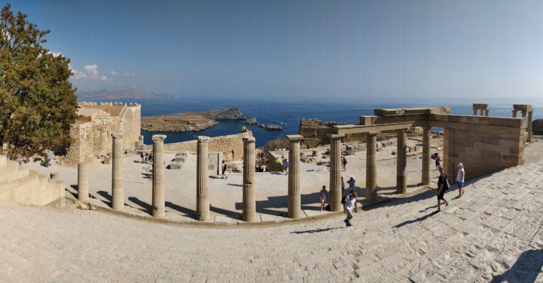 Blog Rhodes: vue panoramique acropole de Lindos