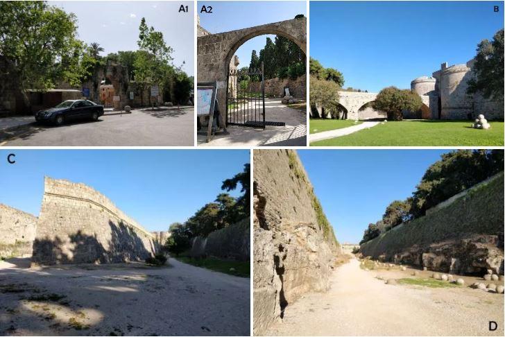balade tour des remparts de Rhodes