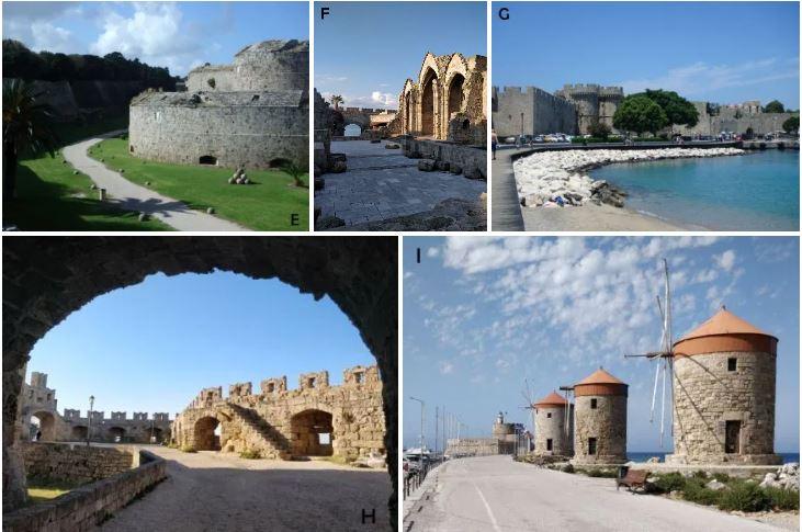 tour des remparts de Rhodes