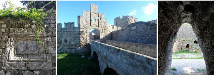 fortifications de la ville de rhodes